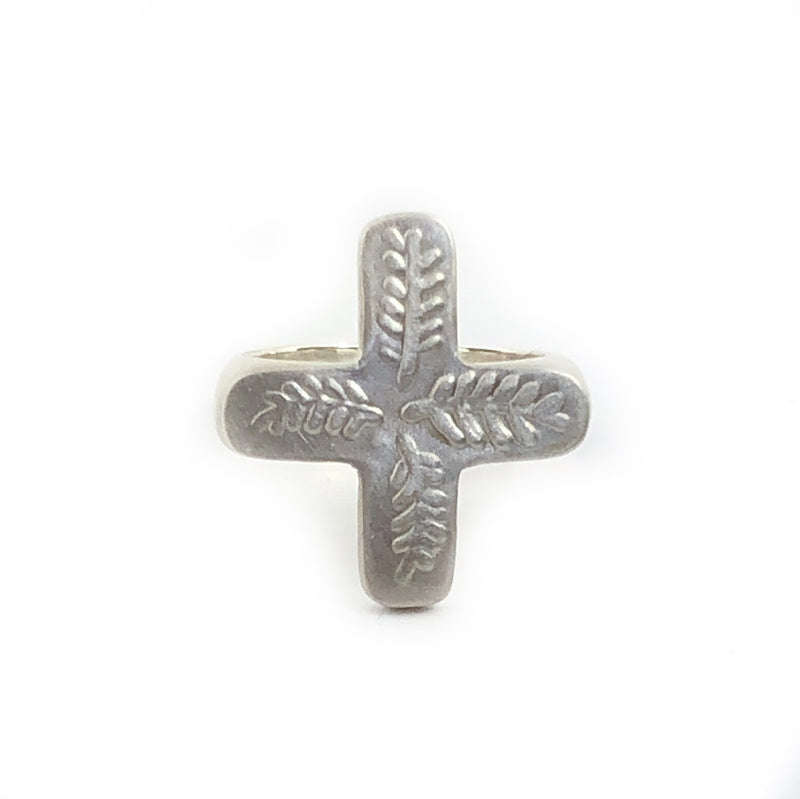 Feather Cross Signet Ring - Milly Thomas
