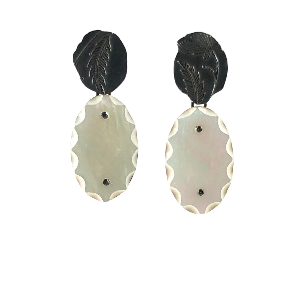 Small Flower print Earrings - Shabana Jacobson
