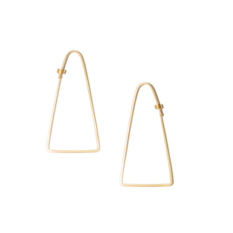 Isosceles Hoop Small in 14ct gold - Carla Caruso