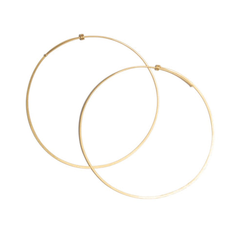 Large Round Dainty Hoop in 14ct gold - Carla Caruso