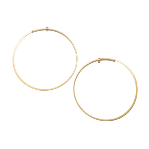 Medium Round Dainty Hoop in 14ct gold - Carla Caruso