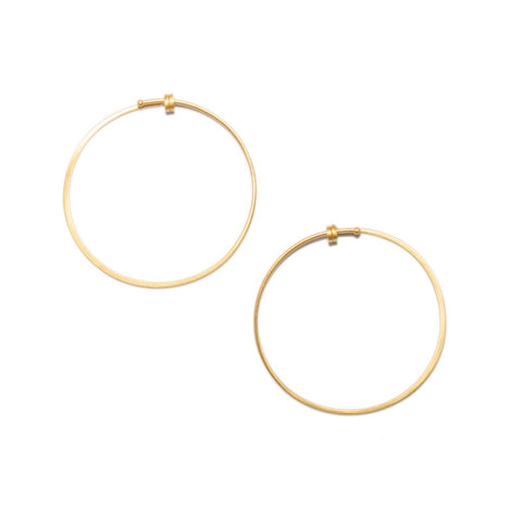 Small Round Dainty Hoop in 14ct gold - Carla Caruso