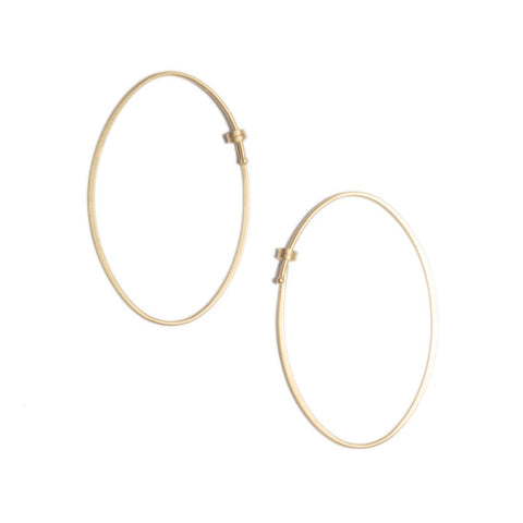 Oval Dainty Hoops Small in 14ct gold - Carla Caruso