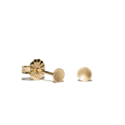 Small Polka Dot Studs in 14ct gold - Carla Caruso