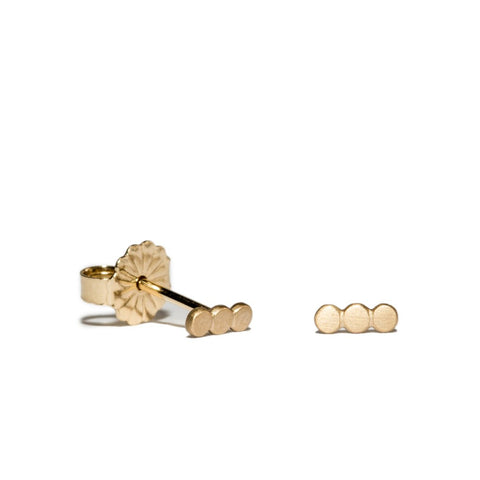 Polka Dot Trio Studs in 14ct gold - Carla Caruso