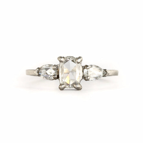 A Facet Three Stone Diamond Ring - Jennifer Dawes