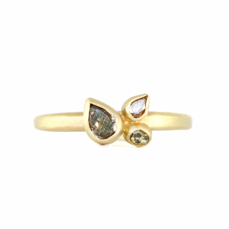 Triple Pear Ring - Monica Marcella