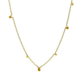 Random Itty Bitty Necklace in 14ct gold - Carla Caruso
