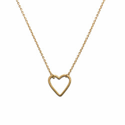Mini Heart Necklace in 14ct gold - Carla Caruso