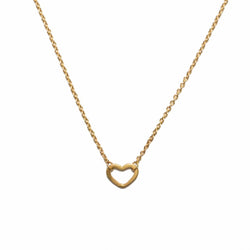 Wee Heart Necklace in 14ct gold - Carla Caruso