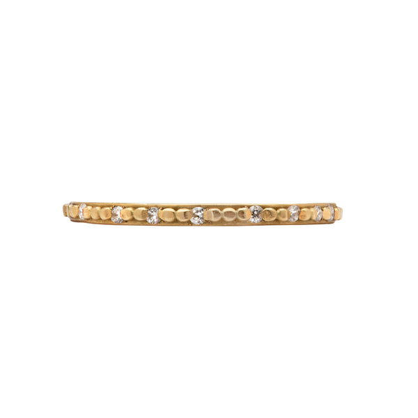Small Raised Dots Diamond Band - Ananda Khalsa