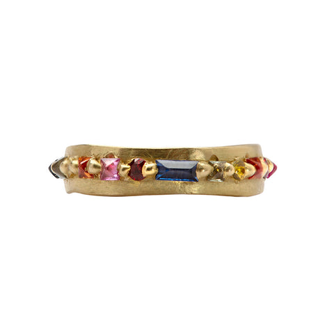 Nina Pinched Eternity Band - Polly Wales