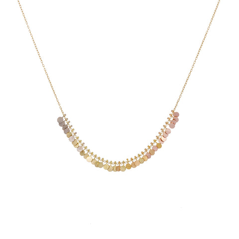 Rainbow Arc Dots Gold Necklace - Sia Taylor