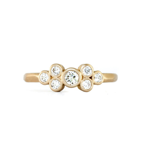 7 Diamond Cluster Ring by Rebecca Overmann