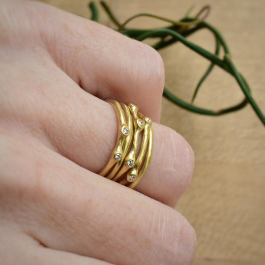 Petite Stacking Barnacle Ring- Johnny Ninos