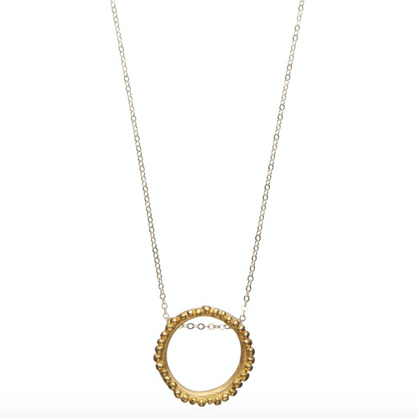 Flora Halo Gold Necklace - Shabana Jacobson
