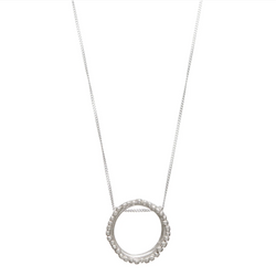 Flora Halo Silver Necklace - Shabana Jacobson