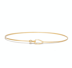 Teardrop Diamond Bangle in 14ct gold - Carla Caruso