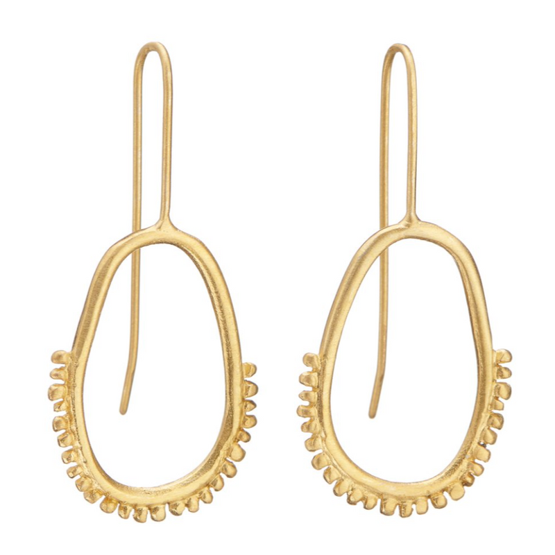 Oval Gold Earrings - Shabana Jacobson