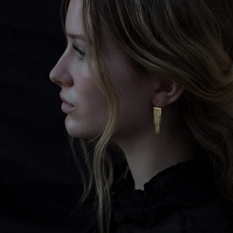 Rainfall Gold Earrings - Sia Taylor