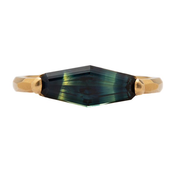 Long Hexagon Tortoise Shell Ring - Krista McRae