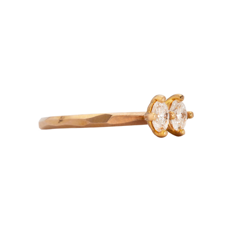 Rose Gold Double Oval Diamond Ring - Krista McRae