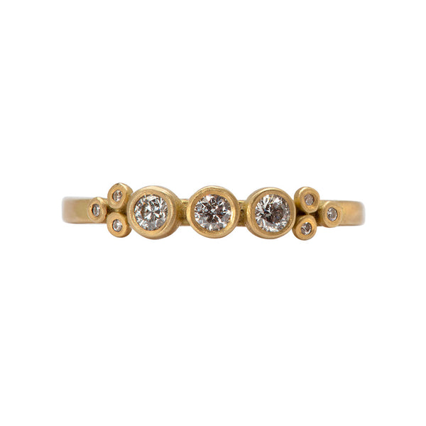 Three Diamond Dot with Diamond Trios Band - Ananda Khalsa