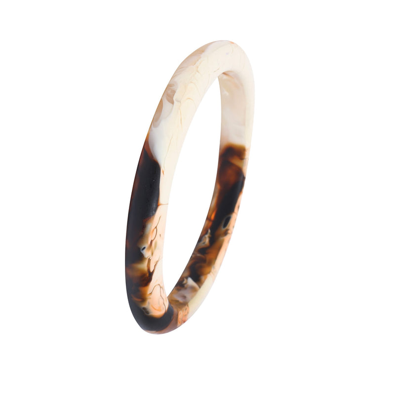 Wishbone Medium Bangle in Light Horn - Dinosaur Designs