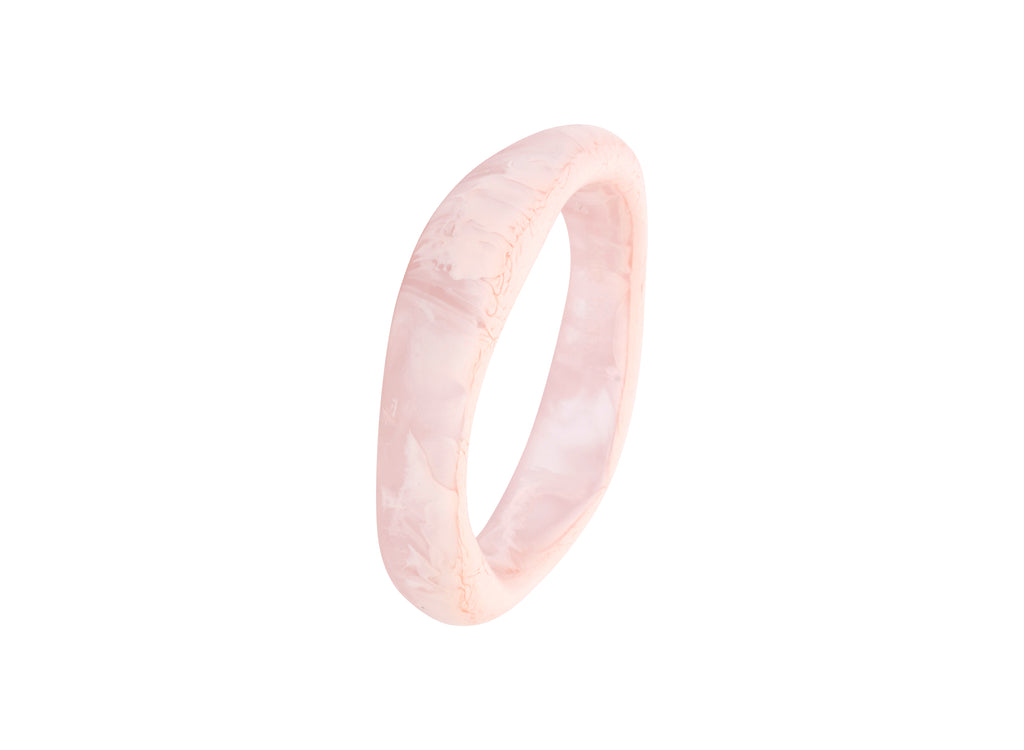 Small Irregular Bangle in Shell Pink - Dinosaur Designs