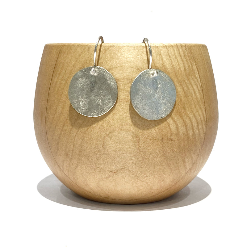 Textured Disc Earrings - Jane Hodgetts