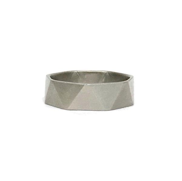 Palladium Symmetrical Facet Ring - Ash Hilton