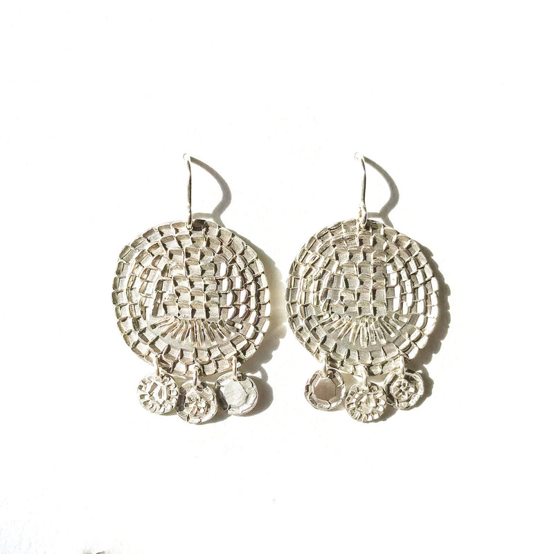 Silver Shimmy Shimmy Circles Earrings - Milly Thomas
