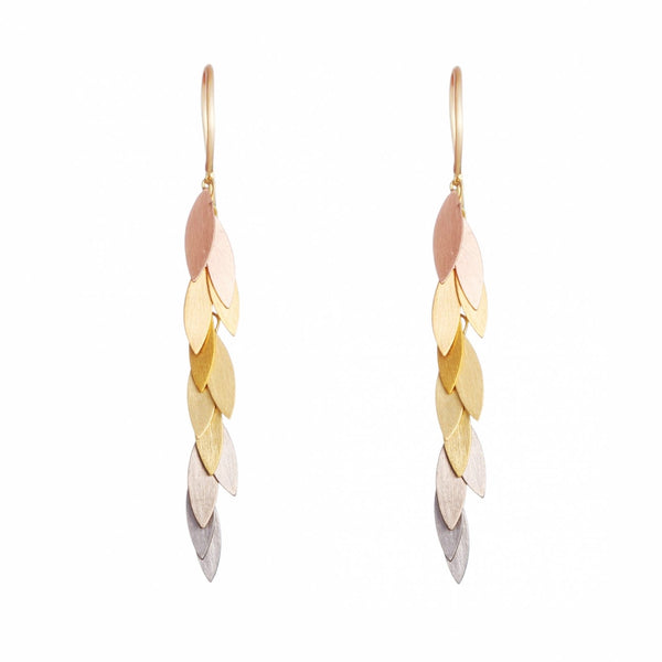 Rainbow Leaf Earrings - Sia Taylor