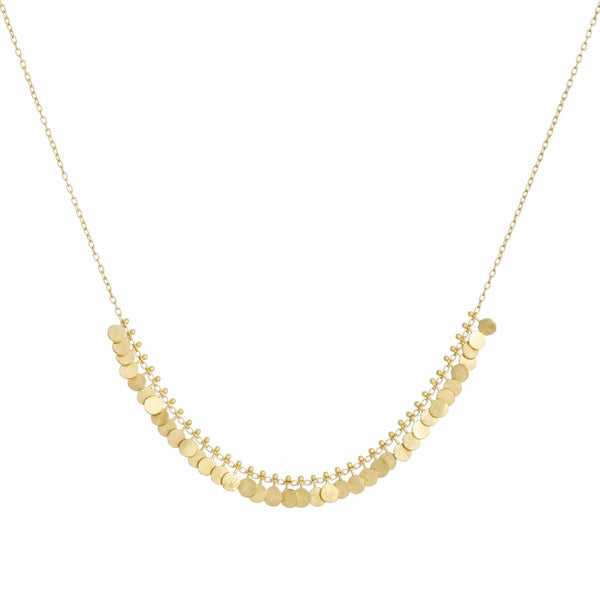 Tiny Arc Dots Gold Necklace - Sia Taylor