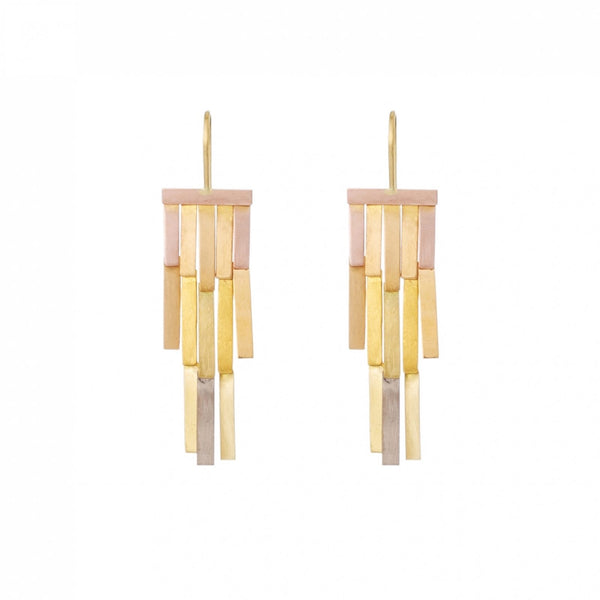 Rainbow Rainfall Gold Earrings - Sia Taylor