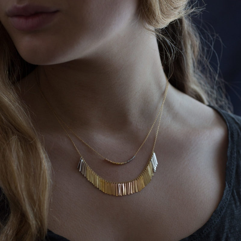 Sunset Fringe Arc Necklace - Sia Taylor