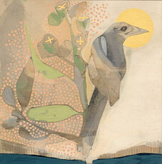 Magpie and Eucalyptus Mini Print - Dana Kinter