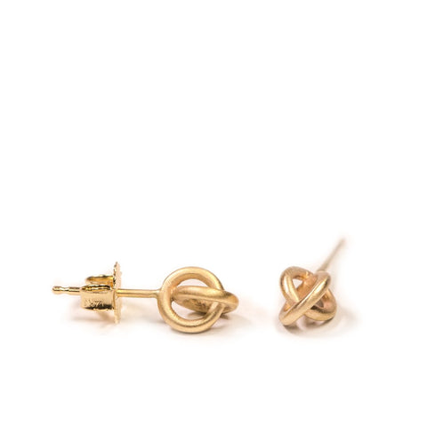 Embrace Studs in 14ct gold - Carla Caruso
