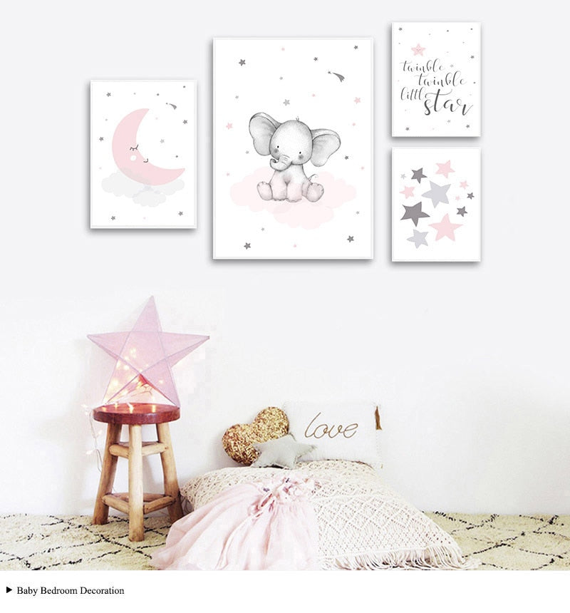 Canvas Nursery Art for Little Girls by Frugalbabies.com