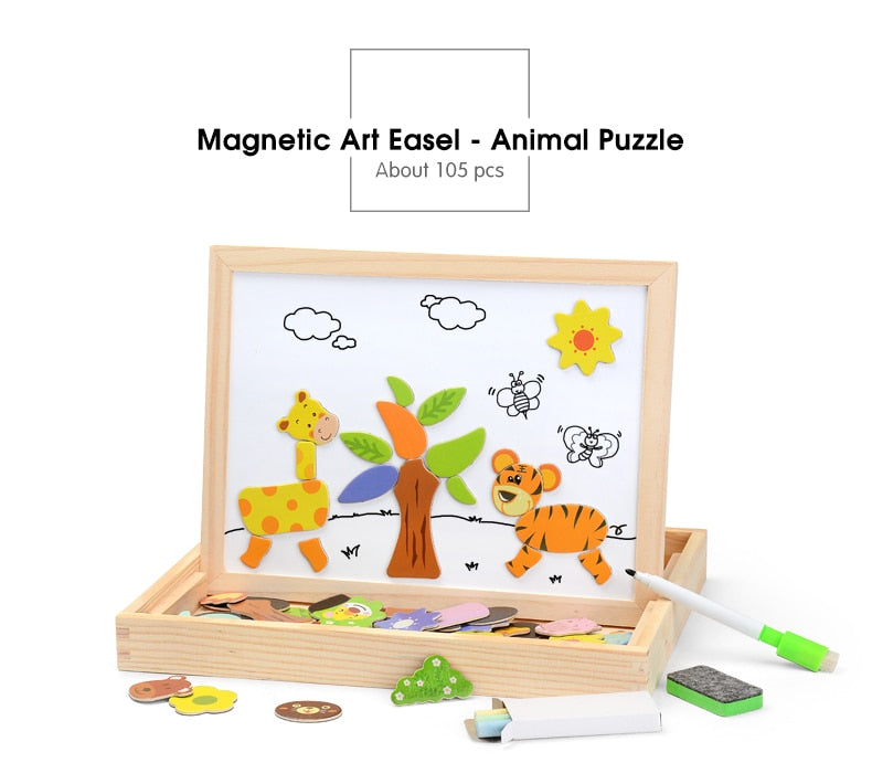 Educational Wooden Magnetic Puzzle