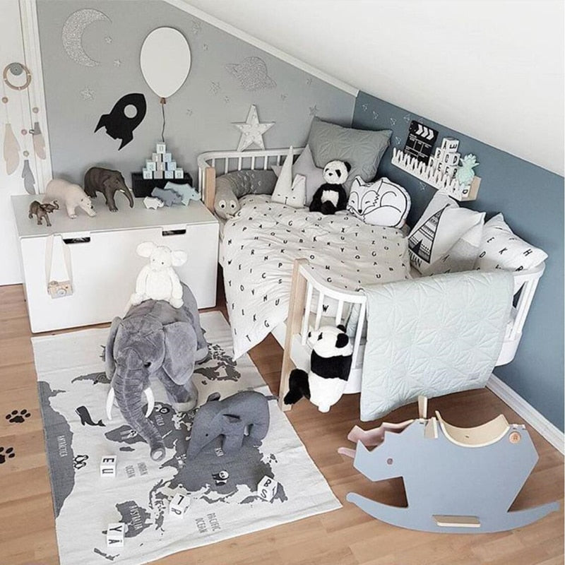 80*140cm Nordic Baby Room Decor Play Gym Nursery Sensory Playing Mat Infant Room Clothes Rack Accessories Photography Props