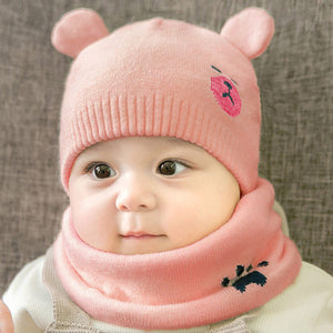 Baby Winter Knitted Beanie & Scarf by frugalbabies.com