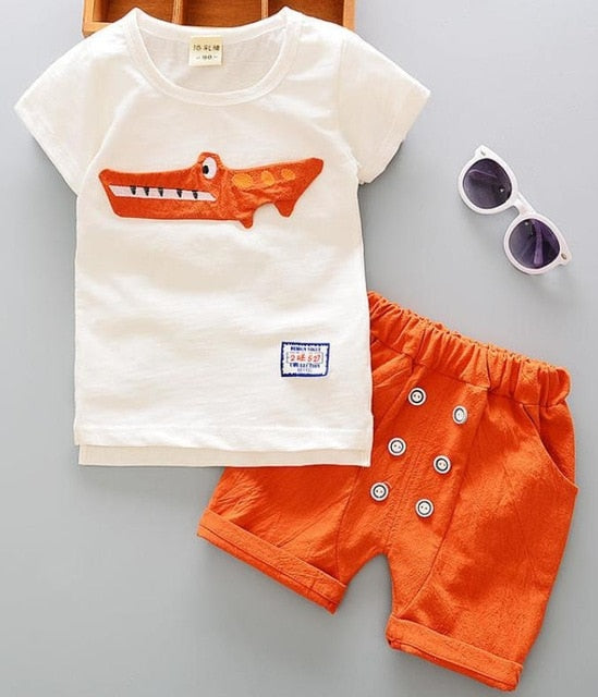 Linen Cotton Two Piece Clothing Set  for Boys by frgalbabies.com