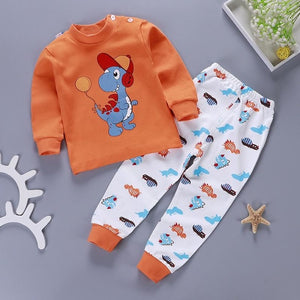 Cotton Long Sleeved Pajama Set for Boys by frugalbabies.com
