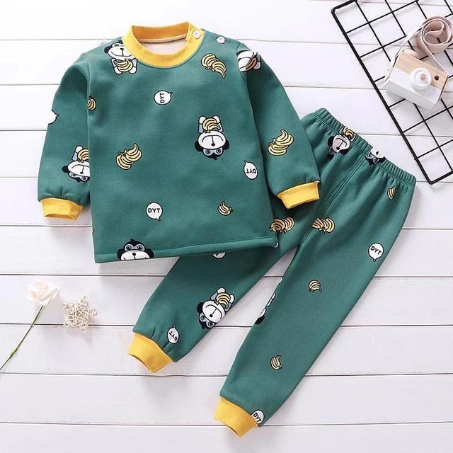 Warm Fleece Pajamas Sets for Baby Boys by frugalbabies.com