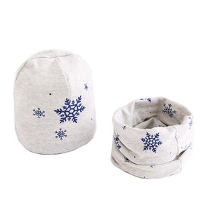 Fashionable Cotton Baby Beanie and Scarf Set