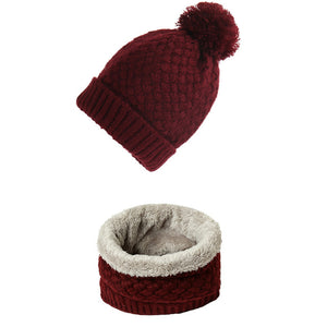 Knitted Beanie &  Snood Set by Frugalbabies.com