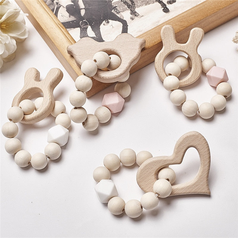 Baby Silicone Teething Beads by frugalbabies.com