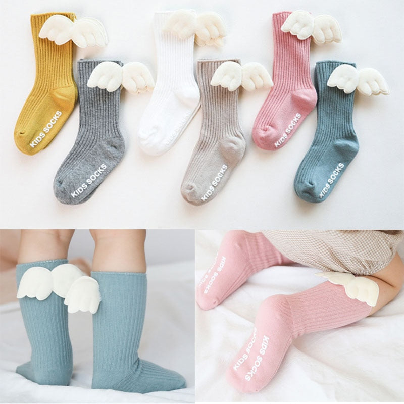 Angle Wing Knee High Socks by frugalbabies.com