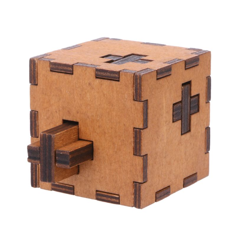 Lock Cube Wooden Puzzle Box by Frugalbabies.com